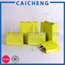 Günstige gedruckte kundenspezifische faltende Einkaufsgeschenkpapiertasche