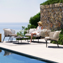 Good quality balcony patio furniture outdoor rope sofa set webbing sofa