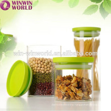 Promotional Glass Food Nuts Storage Jar BPA Free Plastic Lid