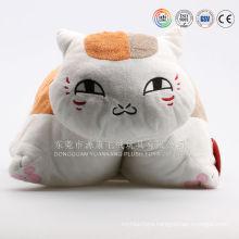 Custom cat shaped plush toys cushion
