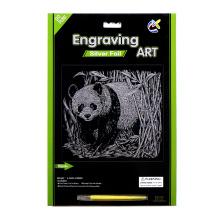 Juguetes de lujo papel Manualidades tarjetas de rascar de plata Panda