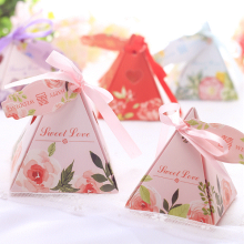 Pyramid european wedding souvenir candy box
