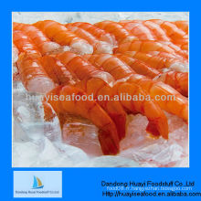 Crevettes rouges sans tête