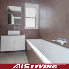Armoires de salle de bains de laque blanche avec vanité de miroir de tiroirs (AIS-B013)