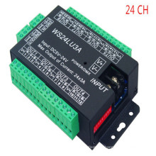 WS24LU3A DMX512 24CH 24A Décodeur Contrôleur DC5V-24V DMX Lecteur pour RGB LED Bande