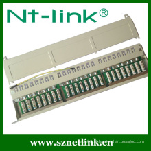 Internet Telecom Branco STP Cat6 24 Port Patch Panel