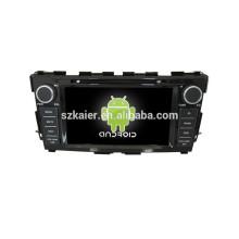 Quad core double din voiture lecteur dvd gps logiciel de voiture gps avec GPS, BT, DVR, contrôle du volant pour Nissan Teana 2014