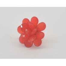 Anneau réglable de mode de fleur acrylique de grande gloire (XRG12461)