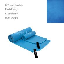 Fast Dry Long Double Size Slogan Beach Towel, Digital Print Flower Travel Bath Towel