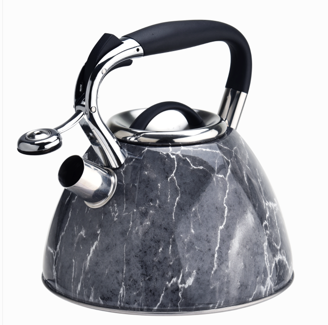 Stainless Steel Grey Marble Tea Kettle 324