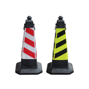 75cm Soft Flexible PE plastic reflective traffic cones