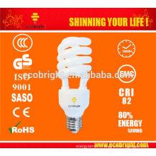 T4 25W spirale moitié Energy Saving Lamp 10000H CE qualité