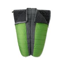 Synthetic Fabric Double Sleeping Bag for 3 Season Camping Winter Sleeping Bag Double