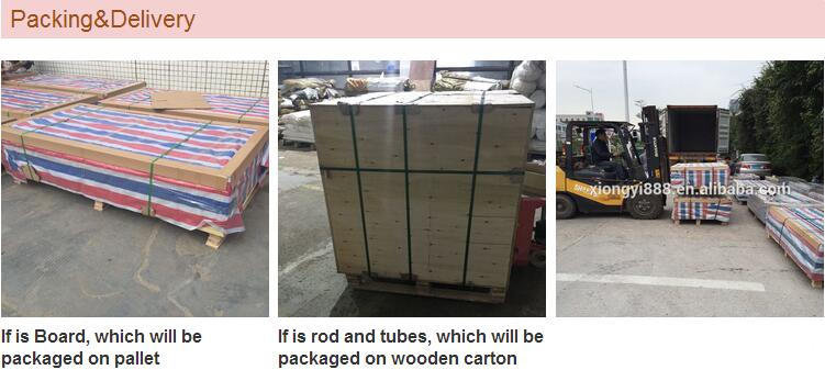 Nylon Rod Standard Sizes package