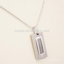 Factory Cheap Custom Metal Stainless Steel Men's Necklace Pendant