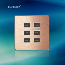 1-6 Gangs Lighting Switch Touch Panel Aluminiumlegierung Material (AD-ST1000K-CAN)