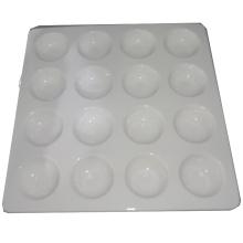 Square Ceramic White Egg Tray-16 Tray