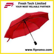 Auto promocional personalizado aberto/fechado dobradura guarda-chuva com logotipo
