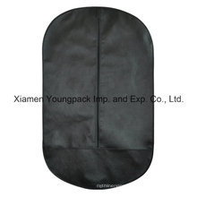 Oval Shape Black Non-Woven Suit Garment Cover Bag