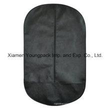 Oval Shape Black Non-Woven Suit Garment Cover Bag