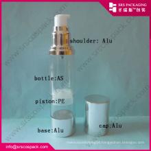 Alu Series Round Airless Pump Clear Bottle