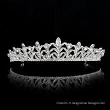 Vente en gros argent mariage cristal couronne mariée femmes ballet diadème ballet mariée coiffes luxueuses