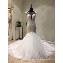 Высокое Качество Кружева Блесток Свадебные Платья