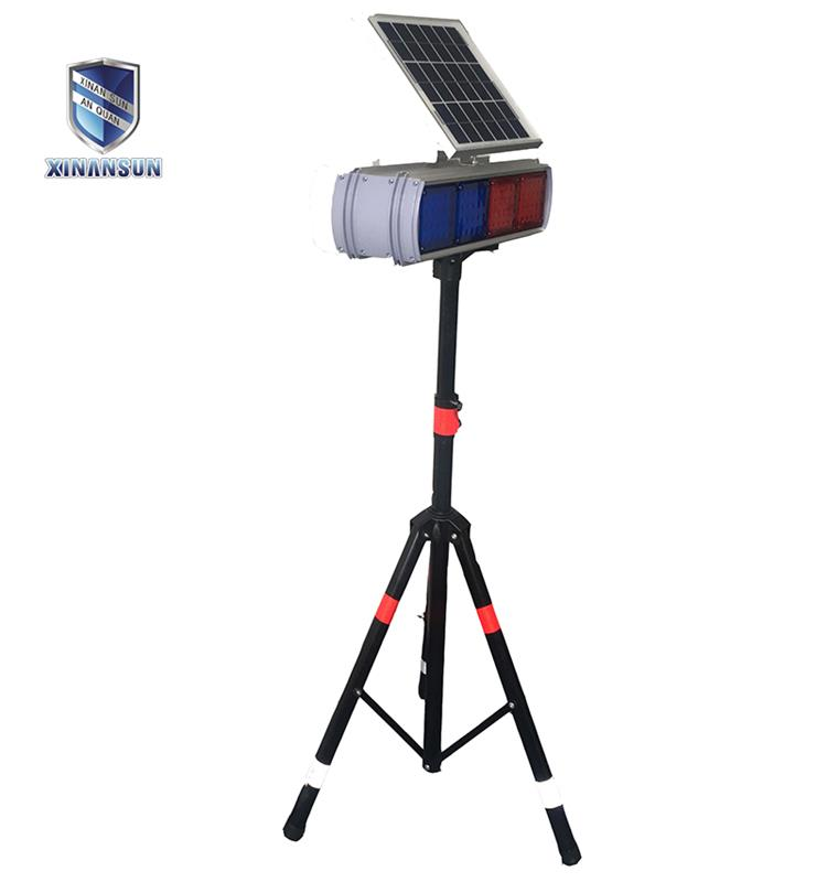 High visibility solar strobe light