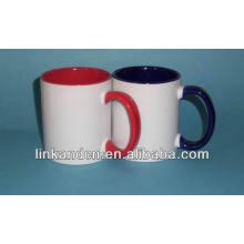 Haonai 2014 colores finos 11oz dentro de la taza de cerámica
