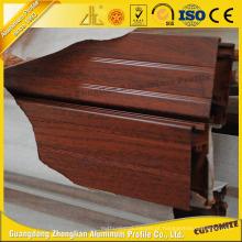 Janela e porta de madeira do alumínio da grão do fabricante