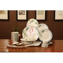 Vajilla de porcelana de lujo de uso diaria, azul y blanco de cerámica dinnerset vajilla, vajilla de lujo