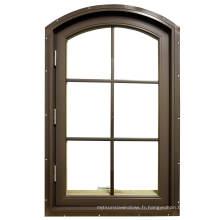 Fenêtre à battants en aluminium de style européen en verre français