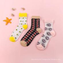 Summer Women Ultra thin Transparent Socks Glass Silk Crystal Socks
