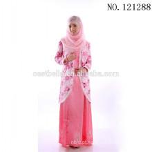 Stock Fabricante China Médio Oriente Africano Dubai muçulmano Vestido de noiva Vestido maxi Manga comprida Muçulmano
