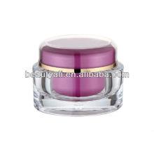 Envase de plástico acrílico ovalado cosméticos