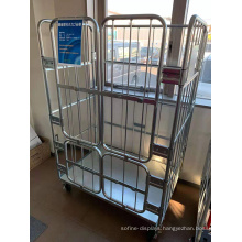 Laundry Metal Steel Logistic Roll Cage Trolley