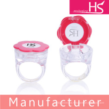 flower ring shape lipgloss jar