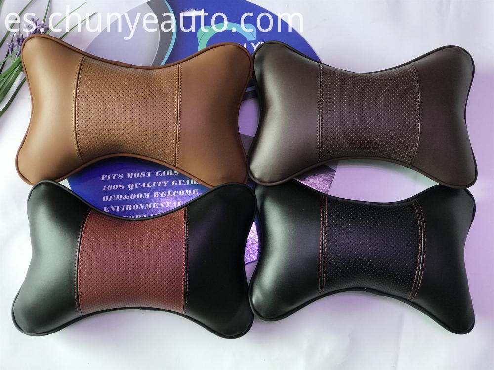 genuine leather car neck pillow