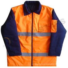 EN471 chaqueta impermeable de alta visibilidad para bombarderos, chaquetas reflectoras de parka
