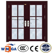 Project Double Size Security Steel Glass Door with Ce (W-GD-20)