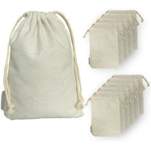 Cotton Drawstrings Bags Heavy Duty Reusable Canvas Cotton Muslin Bags Perfect Organizing, Storage, Crafts