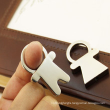 Hot Selling Romantic V-Day Couple Metal Key Ring (Y03027)