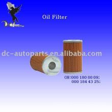 Elemento de filtro de óleo 000 180 00 09 para Mercedes-Benz