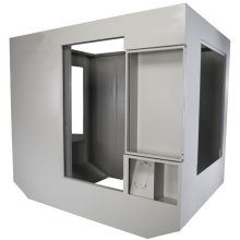 Matrix amplifier cabinet made of industrial sheet metal