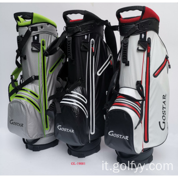 Borsa da golf in nylon impermeabile per sport all'aria aperta