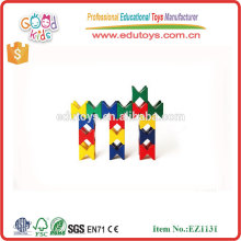 Kindergarten Play Toys Child's Creativity Colorful Wooden Construction Set