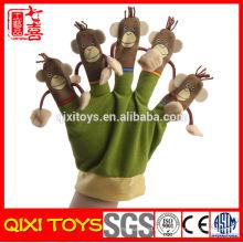Marionetas de mano de dibujos animados marionetas de mano de felpa mono de peluche