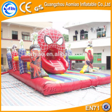 Spiderman gonflable jump pad jumping mat gonflable jumper