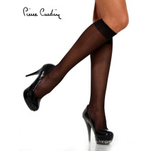 Pierre Cardin OEM de las mujeres de Lycra rodilla alta calcetín 3 pares de paquetes (5 colores)