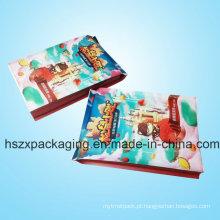 Personalize sacos laminados impressão do empacotamento plástico de alimento de petisco